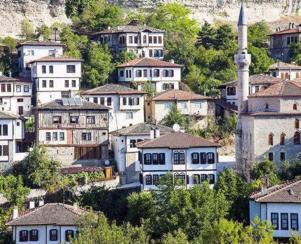 Casas tradicionales en Safranbolu en Turquía