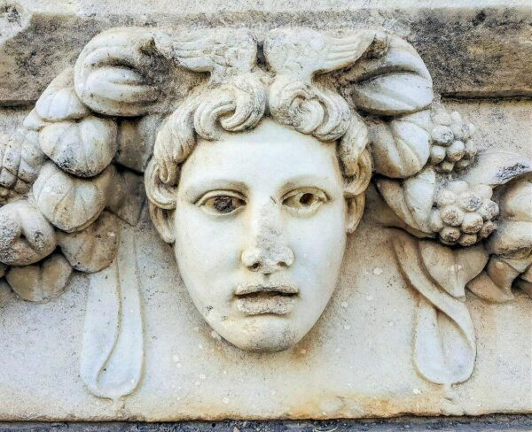 Detalle de friso en Afrodisias en Turquía