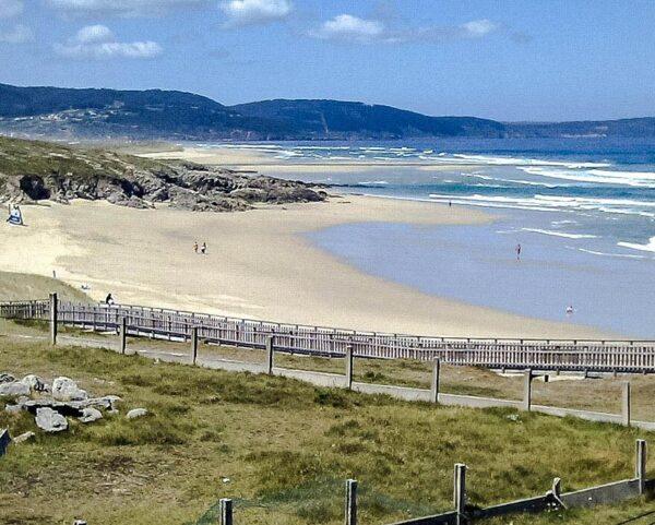 Playa de Baldaio en A Coruña en Galicia