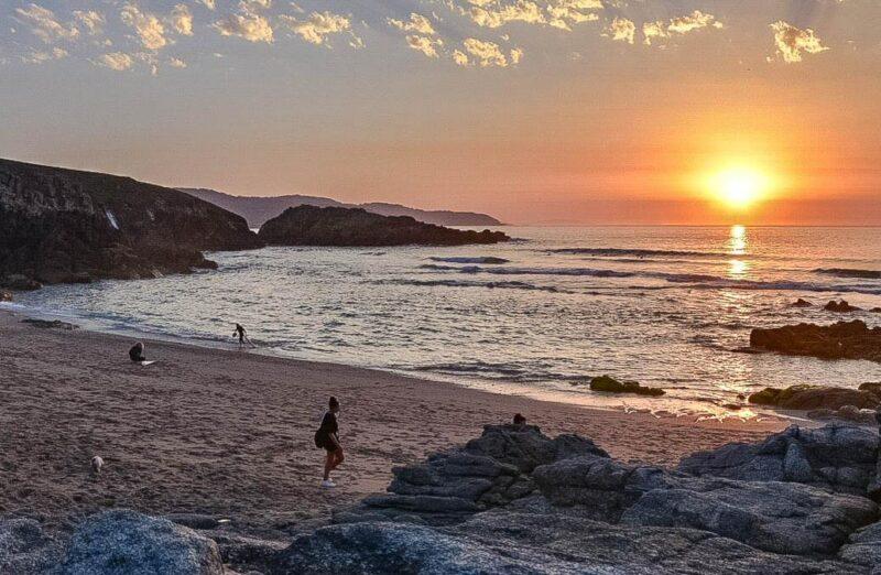 Playa de Repibello en la provincia de A Coruña en Galicia