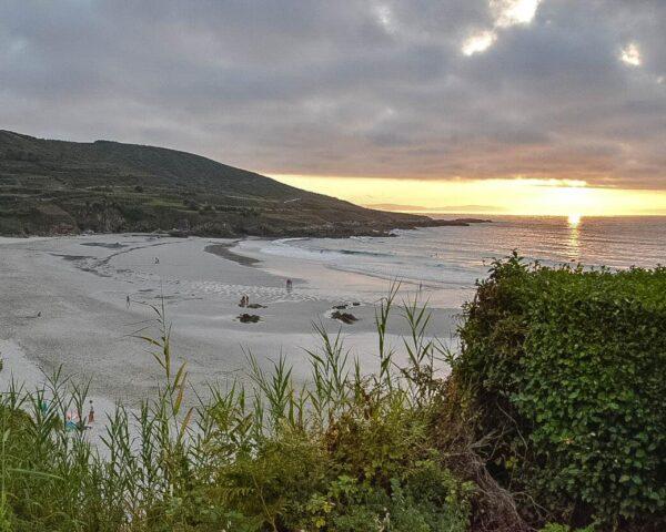 Playa de Caión en provincia de A Coruña en Galicia