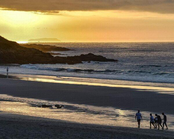 Playa de Caión en A Coruña en Galicia