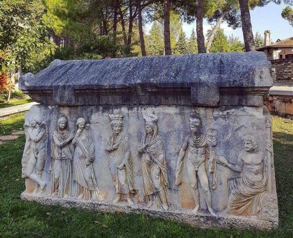 Sarcófago en museo de Afrodisias en Turquía