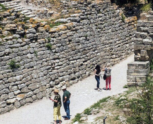Restos arqueológicos de Troya en Turquía