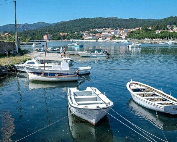 Esteiro en la Ría de Muros y Noia en A Coruña en Galicia
