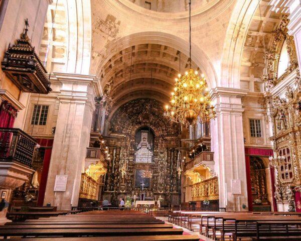 Catedral Nueva en Coimbra en Centro de Portugal