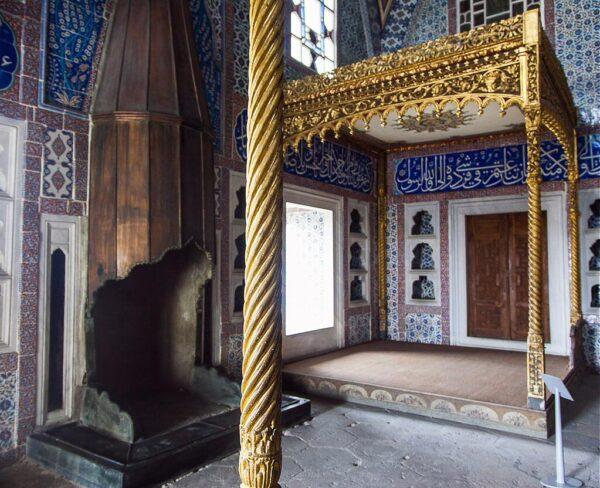 Cámara de Murat III en el Harén del Palacio Topkapi en Estambul