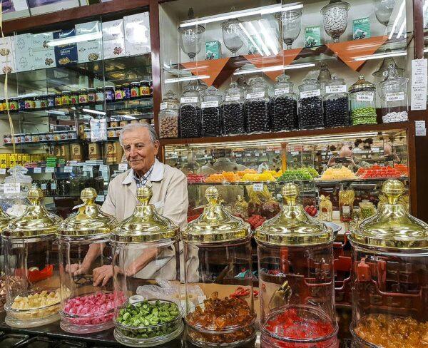 Pastelería Üç Yildiz en barrio Beyoglu de Estambul
