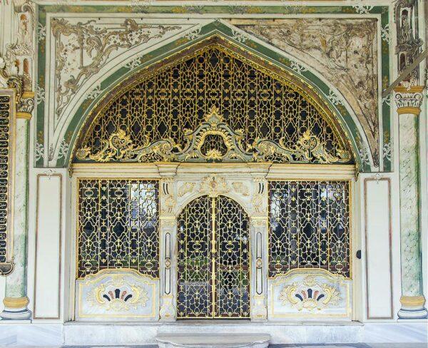 Palacio Topkapi en Estambul en Turquía