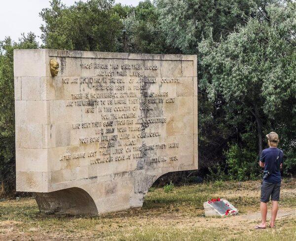 Memorial en el Cementerio de la Playa en Galípoli
