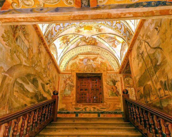 Pinturas en Santuario de las Virtudes en Santa Cruz de Mudela