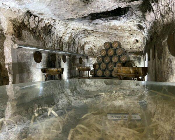 Cueva en Bodegas Navarro López en Valdepeñas