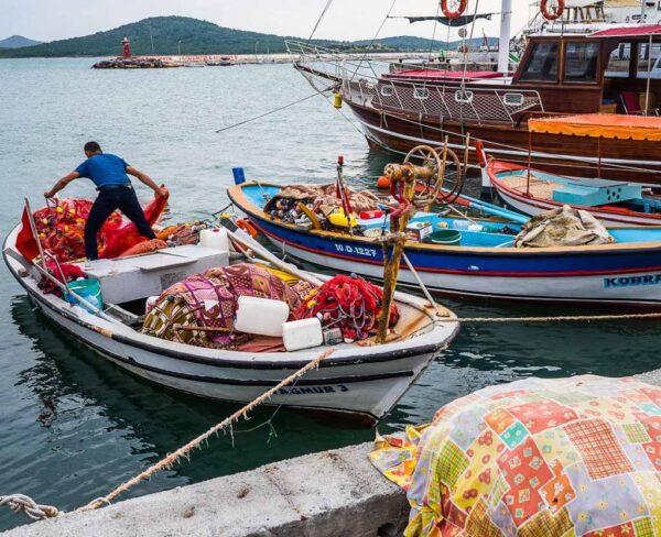 Ayvalik en la costa turca del mar Egeo