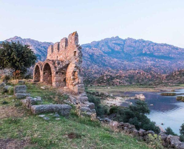 Lago Bafa en la costa turca del Egeo