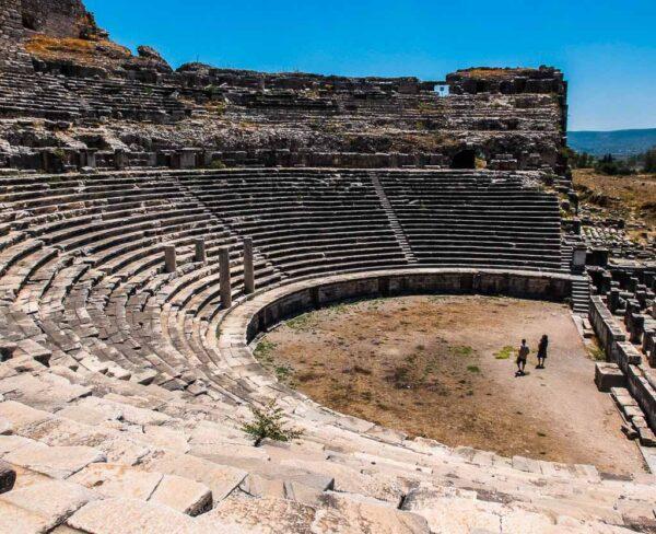 Teatro de Mileto en la costa turca del mar Egeo