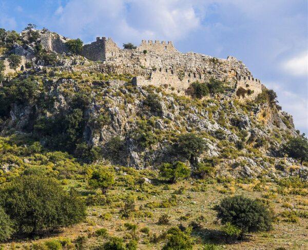 Restos arqueológicos de Caunus en Dalyan en Turquía