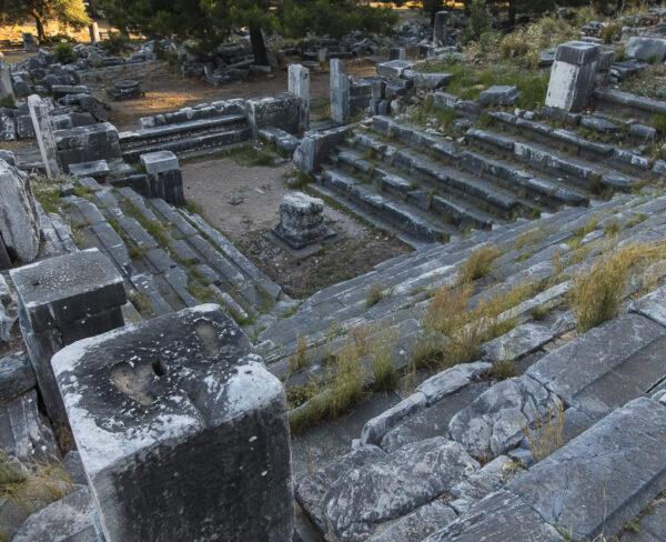 Bouleuterión de la antigua ciudad griega de Priene en Turquía