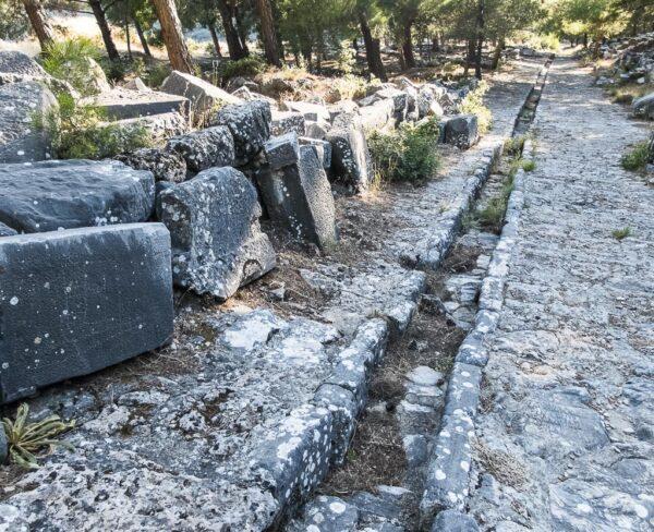 Restos de la antigua ciudad griega de Priene en Turquía