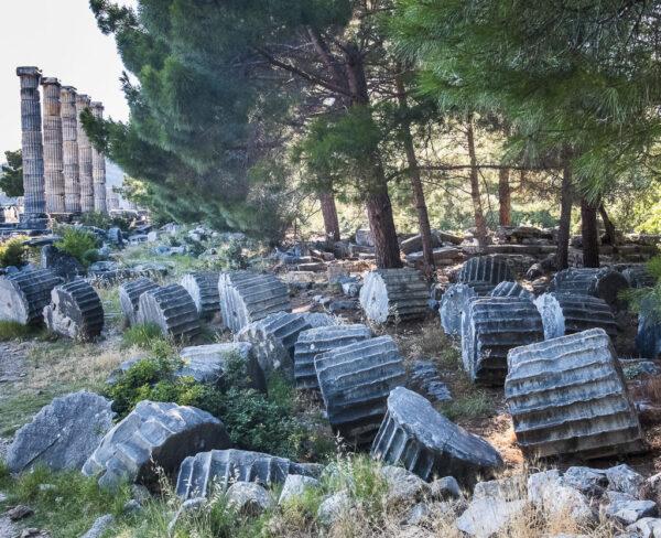 Templo de Atenea Polias en Priene en Turquía