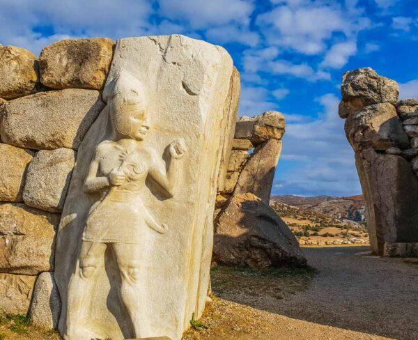 Puerta del Rey en Hatusa en Turquía