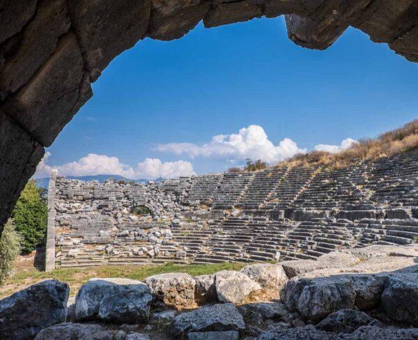 Restos del antiguo santuario licio de Letoon en Turquía