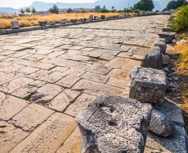 Restos de la antigua ciudad licia de Xanthos en Turquía