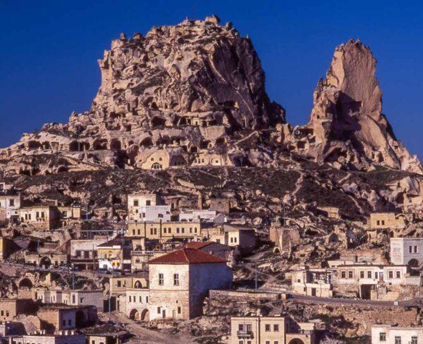 Uchisar en Capadocia en Turquía