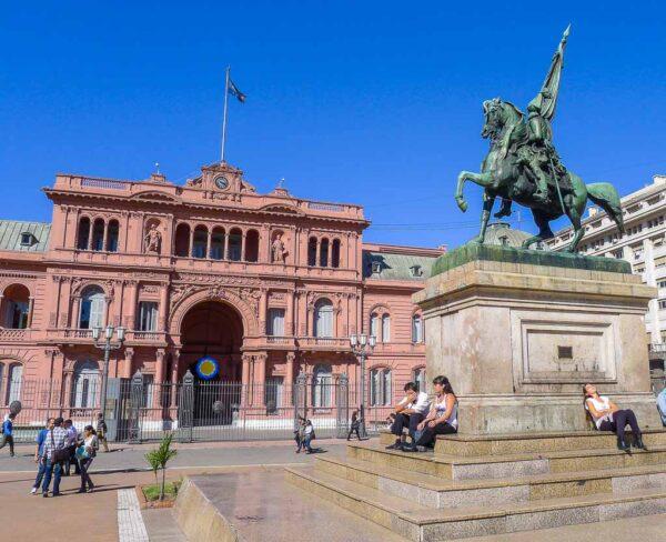 Casa Rosada en la Plaza de Mayo en Buenos Aires