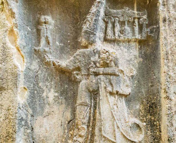 El dios Sharouma en Galería B de Yazilikaya