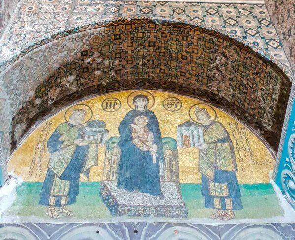 Mosaicos en Santa Sofía en Estambul