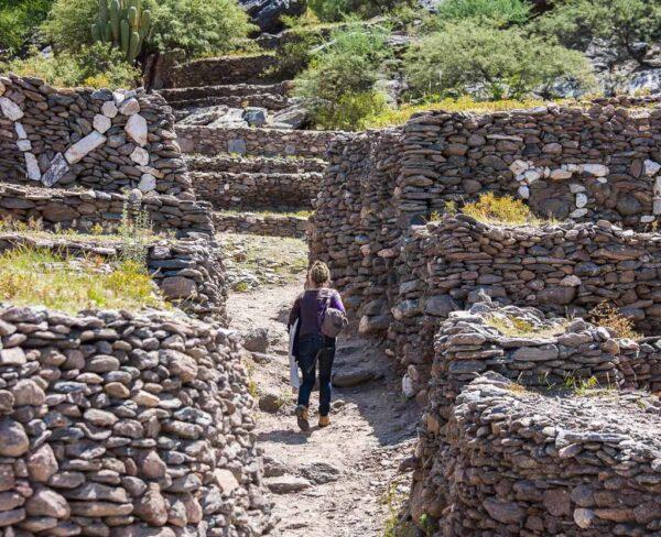 Recinto arqueológico de Quilmes cerca de Tucumán en Argentina