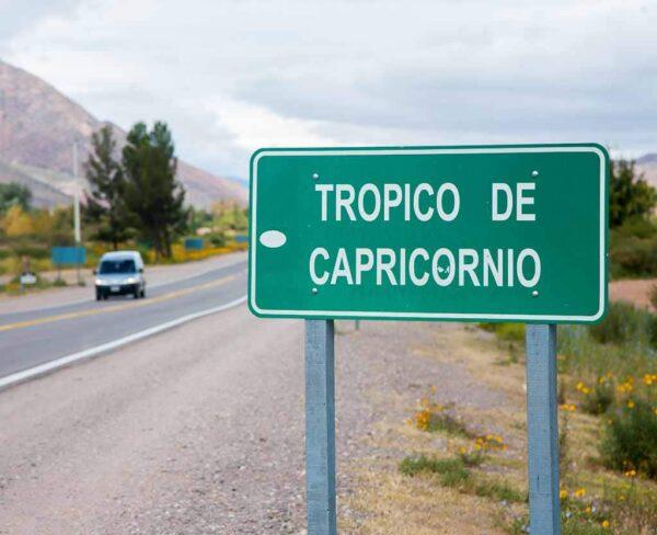 Trópico de Capricornio en Quebrada de Humahuaca en Argentina