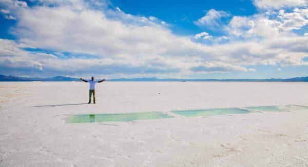 Salinas Grandes al noroeste de Argentina