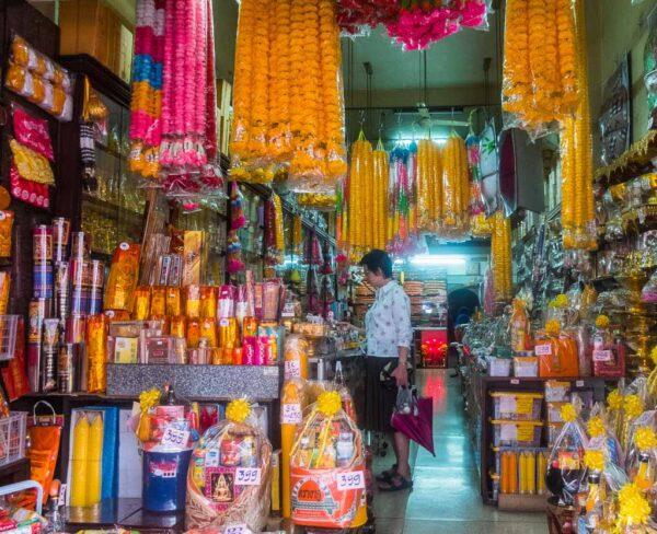Mercado tradicional en Bangkok