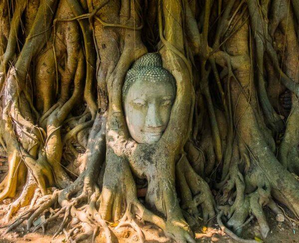 Wat Phra Mahathat en Ayutthaya cerca de Bangkok