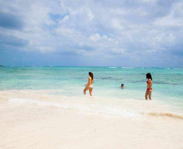 Playa en Riviera Maya en México