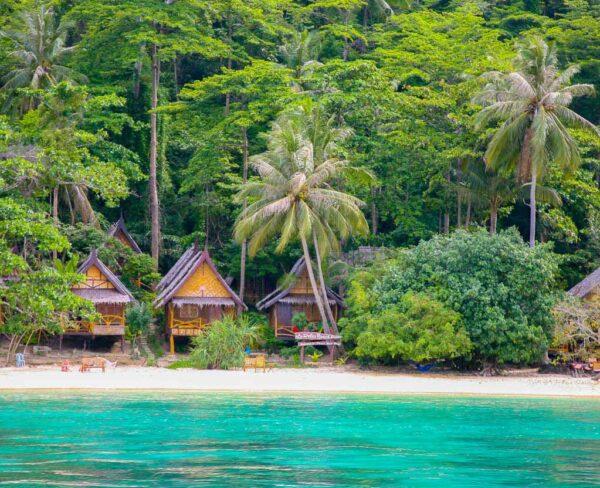 Paisajes de las islas Phi Phi en Tailandia