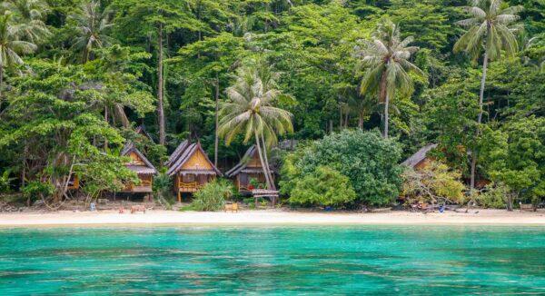 Playa en las islas Phi Phi de Tailandia