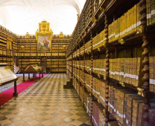 Biblioteca del Palacio de Santa Cruz en Valladolid