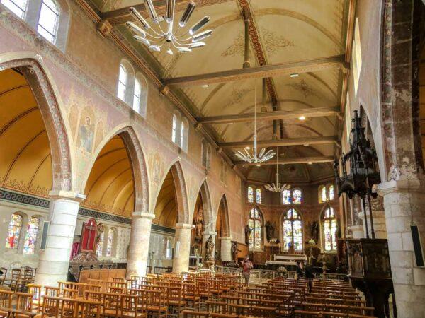 Iglesia de San Leonardo en Honfleur en Normandía