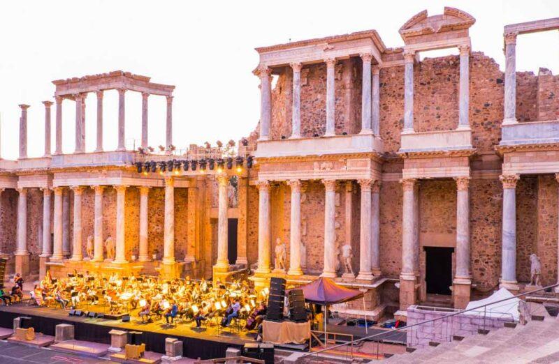 Teatro Romano de Mérida en Cáceres en Extremadura